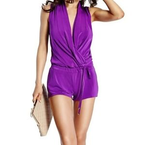 Marciano Violet Sleeveless Romper Jumpsuit